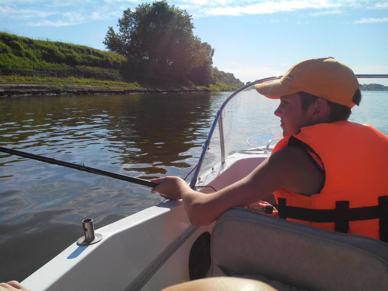 на спининг с лодки